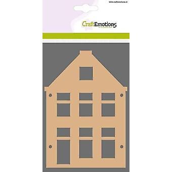 CraftEmotions MDF grundläggande former hus gavel form (2-delar) 15cm x 10cm x 3mm