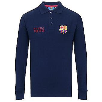 FC Barcelona Officiel Football Gift Boys Chemise polo à manches longues