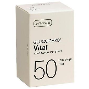 Arkray glucocard viktig blod glukose test strimler, 50 ea