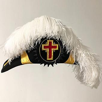 Knights templar past/grand commander chapeau - deluxe fur felt - flat body