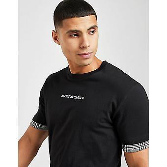 New Jameson Men's Carter Alders Check T-Shirt Black