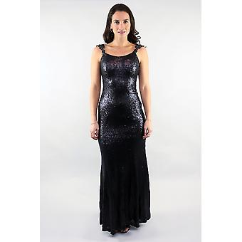 Black sequin elegance gown