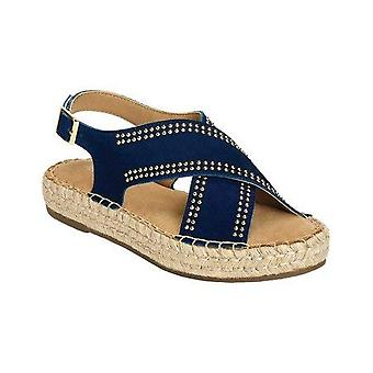 Aeorosoles Womens ESPRESSO Fabric Open Toe Casual Espadrille Sandals