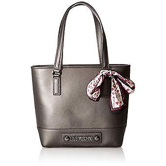 الحب موسكينو حقيبة الطبيعية الحبوب بو حمل المرأة الرمادية (Fucile) 31x12x38 سم (W x H x L)