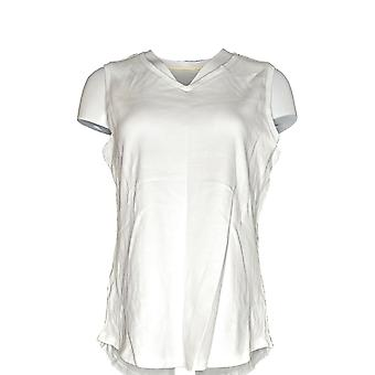 Isaac Mizrahi Live! Women's Top Essentials Shirttail Hem White A286119 #1