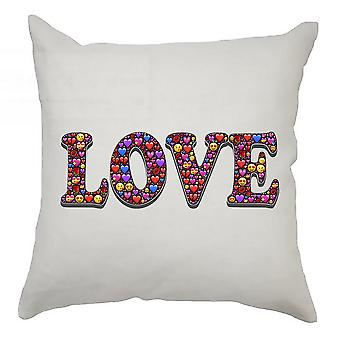 Emoji Cushion Cover 40cm x 40cm Love