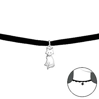 Fox-925 Sterling Silver + Velvet Chokers-W33991x