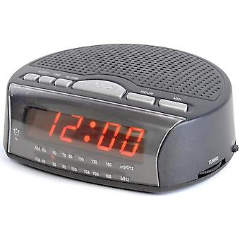 Lloytron AM/FM Radio Alarm Clock LED Display Bedside with Sleep Timer and Snooze