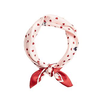 Brooks Brothers Women's Heart Print Silk Square Scarf