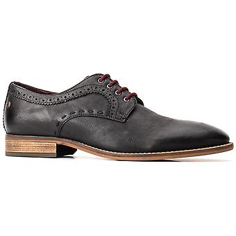 Basis Londen Mens Haddon Softy Lace Up Schoen Zwart