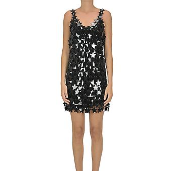 Paco Rabanne Ezgl246004 Dames's Black Polyester Dress