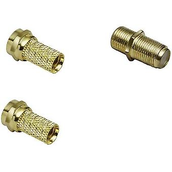 F-connector set Kabeldiameter: 7 mm BKL Electronic