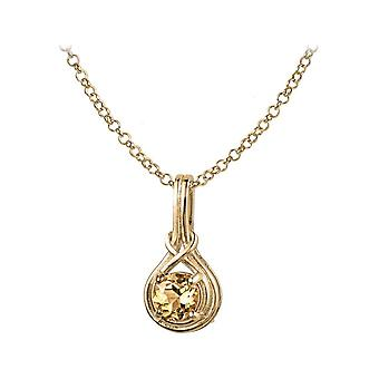 Jacques Lemans - Chain sterling silver plated with citrine - SE-C107K