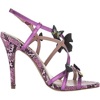 Betsey Johnson Womens Vandi Peep Toe Casual Ankle Strap Sandals