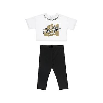 Alouette Girls' Five Star T-Shirt Set Cropped With Glitter And Towel