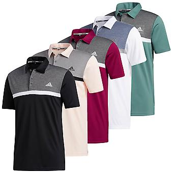 adidas Golf Mens 2020 Color Block Novidade UV 50+ Polo Shirt