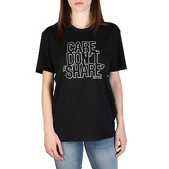 Woman cotton short t-shirt round t-shirt top ae06487