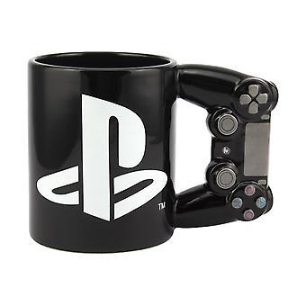 PlayStation 4th Gen Controller Mug Gaming Novelty Ceramic Coffee Drink 550ml