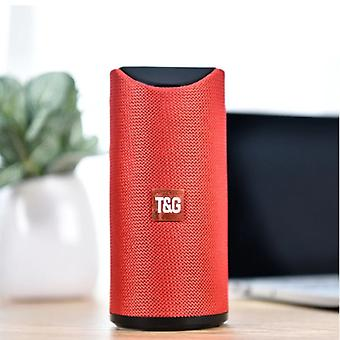 T & G TG-113 Wireless Soundbar Speaker Wireless Bluetooth 4.2 Speaker Box Red