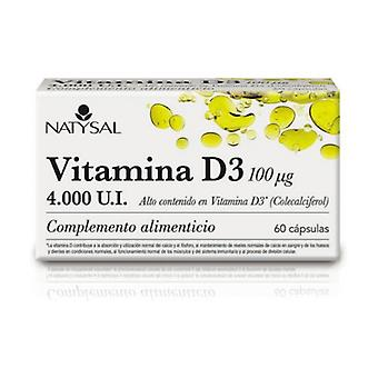 Vitamine D3 4000Ui (Cholecalciferol) 60 capsules