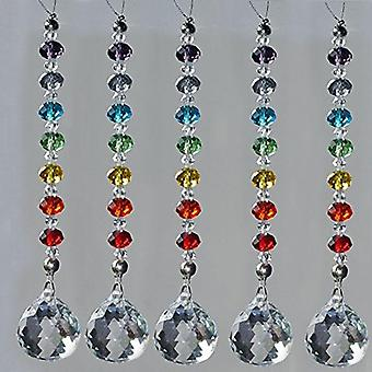 Crystal Prism Ball Chakra Beads Strand -rondelle Beads Strand Hanging