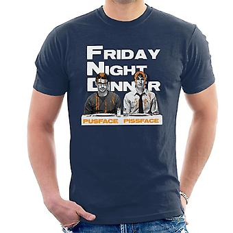 Friday Night Dinner Pusface And Pissface Men's T-Shirt