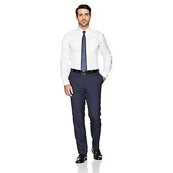 BUTTONED DOWN Men's Slim Fit Button-Collar Solid Non-Iron Dress Shirt (Pocket...
