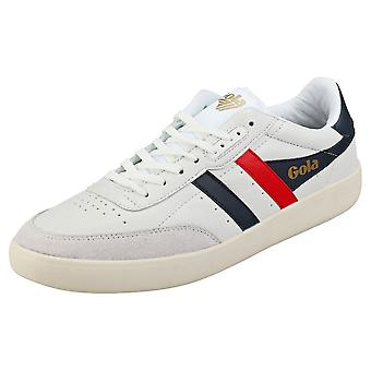 Gola Inca Mens Casual Trainers in White Navy Red
