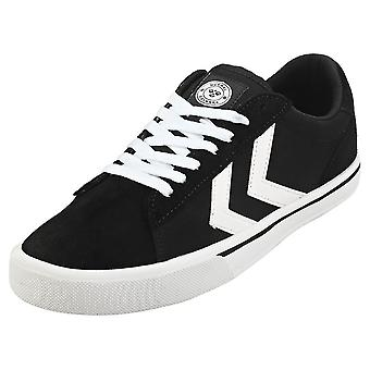 hummel Nile Low Mens Casual Trainers in Black White