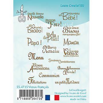 Leane Creatief ختم واضح -- Voeux الفرنسية