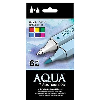Spectrum Noir Spectrum Aqua Markers Brights (6pc) (SPECN-AQ6-BRI)