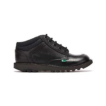 Kickers Kick Lo Flex Youth Black Shoes