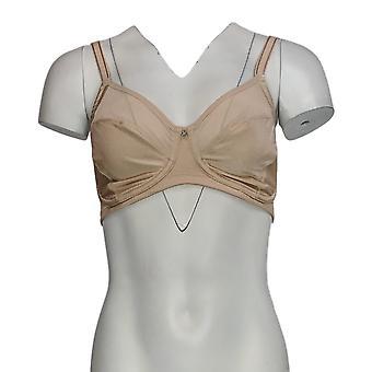 Breezies DD Body Brilliance Cut & Sew Wirefree Unlined Brown Bra A372787