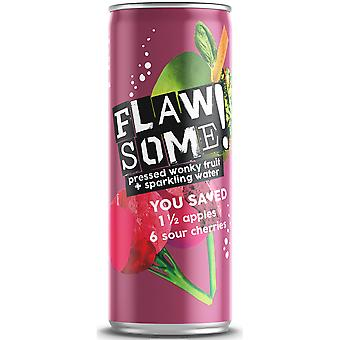 Flawsome Apple & Sour Cherry Lightly Sparkling Juice Drink