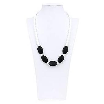Sasso Silicone Teething Necklace - Bumkin - Black New SJS-BLK