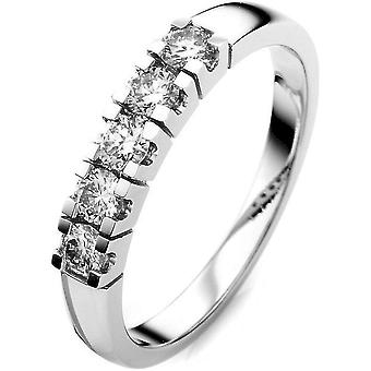 Diamond Ring Ring - 18K 750 White Gold - 0.47 ct.