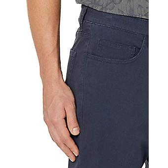 Goodthreads Men's Straight-Fit 5-Pocket Chino Pant, Navy, 40W x 36L