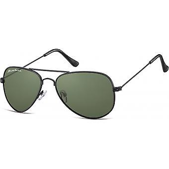 نظارات شمسية Unisex Cat.3 الأسود / الأخضر (S94F)