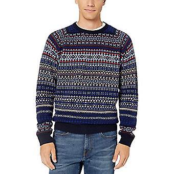 Brand - Goodthreads Men's Lambswool Fairisle Crewneck Sweater, Multi G...