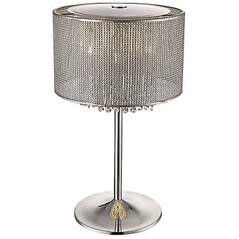 Spring Lighting - 4 Light Table Lamp Silver, Crystal Glass, G9