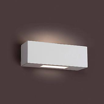 1 Lichte binnenmuur licht wit gips, G9