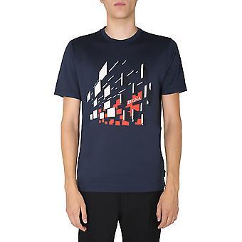 Z Zegna Vv372zz630f6f4 Men'camiseta azul algodão