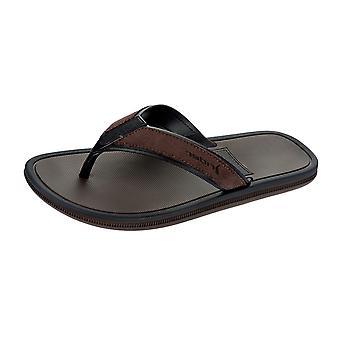 Rider Majorca Mens Flip Flops / Sandals - Brown Black