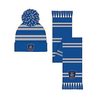 Harry Potter Ravenclaw Crest Bobble Hat e Cachecol