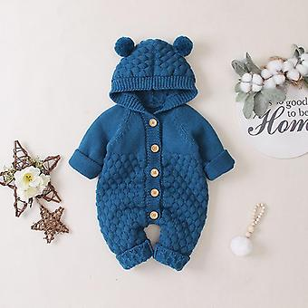 Baby Girl Romper Jumpsuit Boy Hooded Knit Clothes Newborn Baby Clothes Infant Overalls Autumn Jacket For Baby Coat