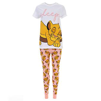 Frauen's Disney Lion King Simba Pyjamas in Weiß