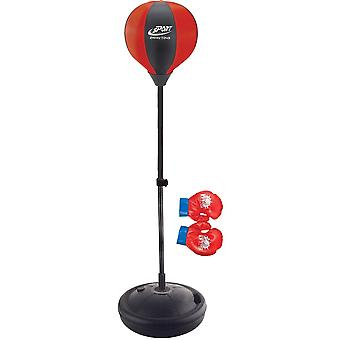 Punching bag standing in front of child adjustable 80-102cm - including gloves