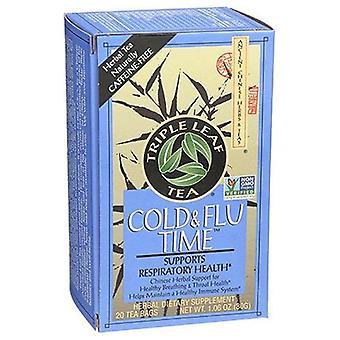 Triple Leaf Tea Cold & Flu Time Tea, 20 Bags