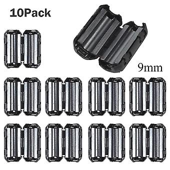 10pcs Black Clip-on Clamp Rfi Noise Filters Ferrite Core For Cable Connector Filters Holder