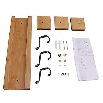 35cm primárne drevo farba skladovanie háčiky rack uterák oblečenie visí 3 háčiky